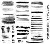 brush stroke collection. | Shutterstock . vector #674478298