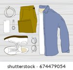 vector illustration of colorful ... | Shutterstock .eps vector #674479054