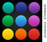set of colorful round glossy...