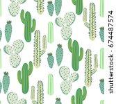 Various Cacti Desert Vector...