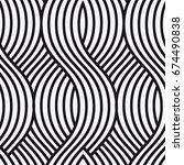vector seamless pattern. modern ... | Shutterstock .eps vector #674490838