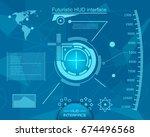 abstract future  concept vector ... | Shutterstock .eps vector #674496568
