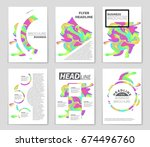 abstract vector layout... | Shutterstock .eps vector #674496760