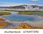 hot steam coming from the... | Shutterstock . vector #674497390