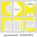 abstract vector layout... | Shutterstock .eps vector #674497873