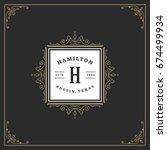 ornament logo design template...   Shutterstock .eps vector #674499934