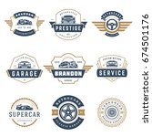 car logos templates vector... | Shutterstock .eps vector #674501176