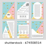 abstract vector layout... | Shutterstock .eps vector #674508514