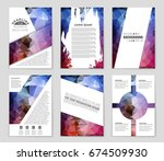 abstract vector layout... | Shutterstock .eps vector #674509930