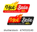 hot sale banners. this weekend... | Shutterstock .eps vector #674510140