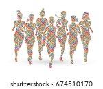 Women Running  Marathon Runner...