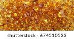 citrine gemstone background... | Shutterstock . vector #674510533