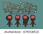 social brain connection | Shutterstock .eps vector #674518513
