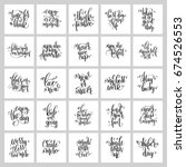 set of 25 hand lettering... | Shutterstock . vector #674526553