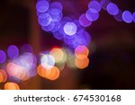 abstract background of bokeh... | Shutterstock . vector #674530168
