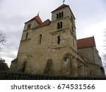 Small photo of Old premonitory monastery of 13. Century (today Calvinist/Reformed church) at town Ocsa, Hungary, 2011