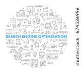line round banner for online... | Shutterstock .eps vector #674536996