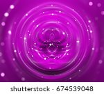 brilliant fuchsia tunnel... | Shutterstock . vector #674539048