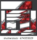 set of web banners in standard... | Shutterstock .eps vector #674555029