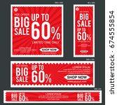 set of sale banners | Shutterstock .eps vector #674555854