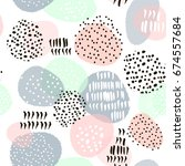 seamless abstract pattern with... | Shutterstock .eps vector #674557684