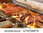 brazilian churrasco | Shutterstock . vector #674558878
