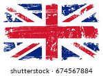 grunge uk flag.vector vintage... | Shutterstock .eps vector #674567884