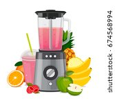 Blender Mixer  With Fruit....
