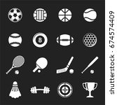 big stock of sports icon on... | Shutterstock .eps vector #674574409