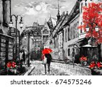 oil painting on canvas european ... | Shutterstock . vector #674575246
