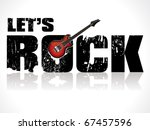 lets rock background with guitar vector illustration - stock vector