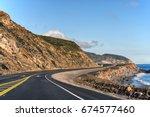 view of pacific coast highway... | Shutterstock . vector #674577460