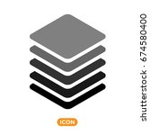 layers icon vector. layers... | Shutterstock .eps vector #674580400