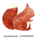 watercolor illustration with... | Shutterstock . vector #674585950