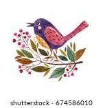 watercolor illustration with... | Shutterstock . vector #674586010