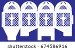 openwork box with a lace...   Shutterstock .eps vector #674586916