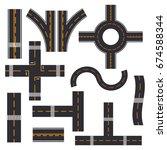 road elements street transport... | Shutterstock .eps vector #674588344