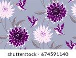 Hummingbird And Flowers...