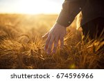 a man with his back to the... | Shutterstock . vector #674596966