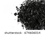 pile of carbon charcoal  dust... | Shutterstock . vector #674606014