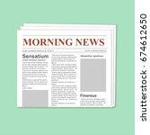 newspaper journal template. | Shutterstock . vector #674612650