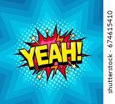 superhero comic book dialog... | Shutterstock .eps vector #674615410