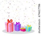 party celebration background... | Shutterstock .eps vector #674617786