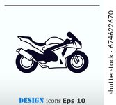 motorcycle  bike icon. flat... | Shutterstock .eps vector #674622670