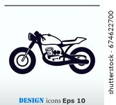 motorcycle  bike icon. flat... | Shutterstock .eps vector #674622700
