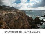 photo of a beautiful landscape  ... | Shutterstock . vector #674626198