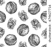 walnut background. seamless... | Shutterstock .eps vector #674627716