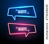 neon sign speech bubble. vector ... | Shutterstock .eps vector #674628640