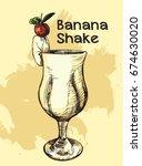 vector image of summer cocktail ... | Shutterstock .eps vector #674630020