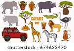 african safari animals zoo... | Shutterstock .eps vector #674633470